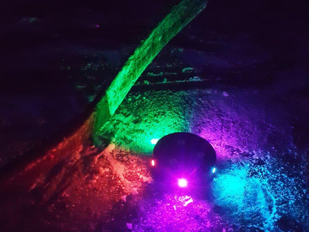 LED hokeja ripa